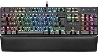 Mars Gaming MK5, teclado mecánico switch azul, RGB 16.8, software, reposamuñecas