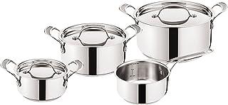 Tefal Set de sartenes H80302. Edición Jamie Oliver. Inducción Premium de Acero Inoxidable, Acero Inoxidable, Acero Inoxidable, 52.6 x 35.1 x 21.9 cm