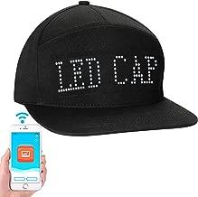 LED Screen Light Cool Hat Smartphone Controlled Waterproof Baseball Cap AL
