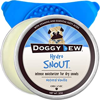 Doggy Dew: Hydro Snout (2oz) | Premium Natural Nose Restoring Butter for Dogs | Proven to Restore Crusty, Dry, Cracked, or Chapped Snouts | with Distraction Mat