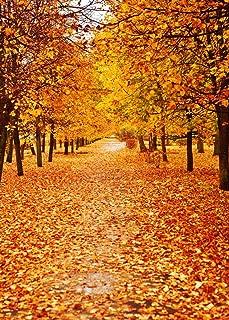 10x10ft Vinyl Autumn Fall Maple Yellow Tree Leaves Photography Studio Backdrop Background