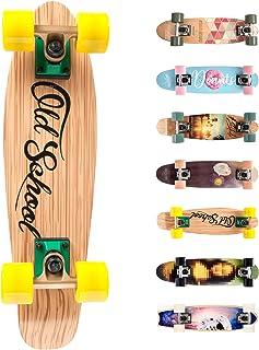 Monopatín patineta Retro Madera Skateboard Completo niños jóvenes Adultos Mejor Calidad Robusto Ligero Ruedas un Skateboard Madera