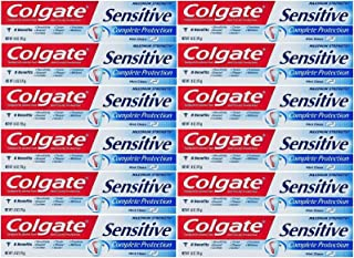 Colgate Sensitive Toothpaste, Maximum Strength, Clean Mint, Travel Size 1 oz (28.3g) - Pack of 12
