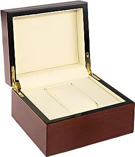 Diplomat 31-52514 Wide Mahogany Beechwood Box Watch Case