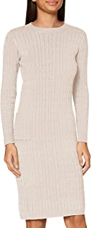 APART Fashion Knitted Cabel Dress Vestito Casual Donna
