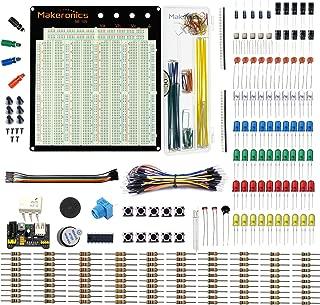 Makeronics 3220 Tie-points Solderles Breadboard+Electronics Fun Kit | Power Supply Module | Precision Potentiometer | 140 pcs U-Shape Jumpers |65 pcs Wires for Prototyping Circuit/Arduino/Raspberry Pi