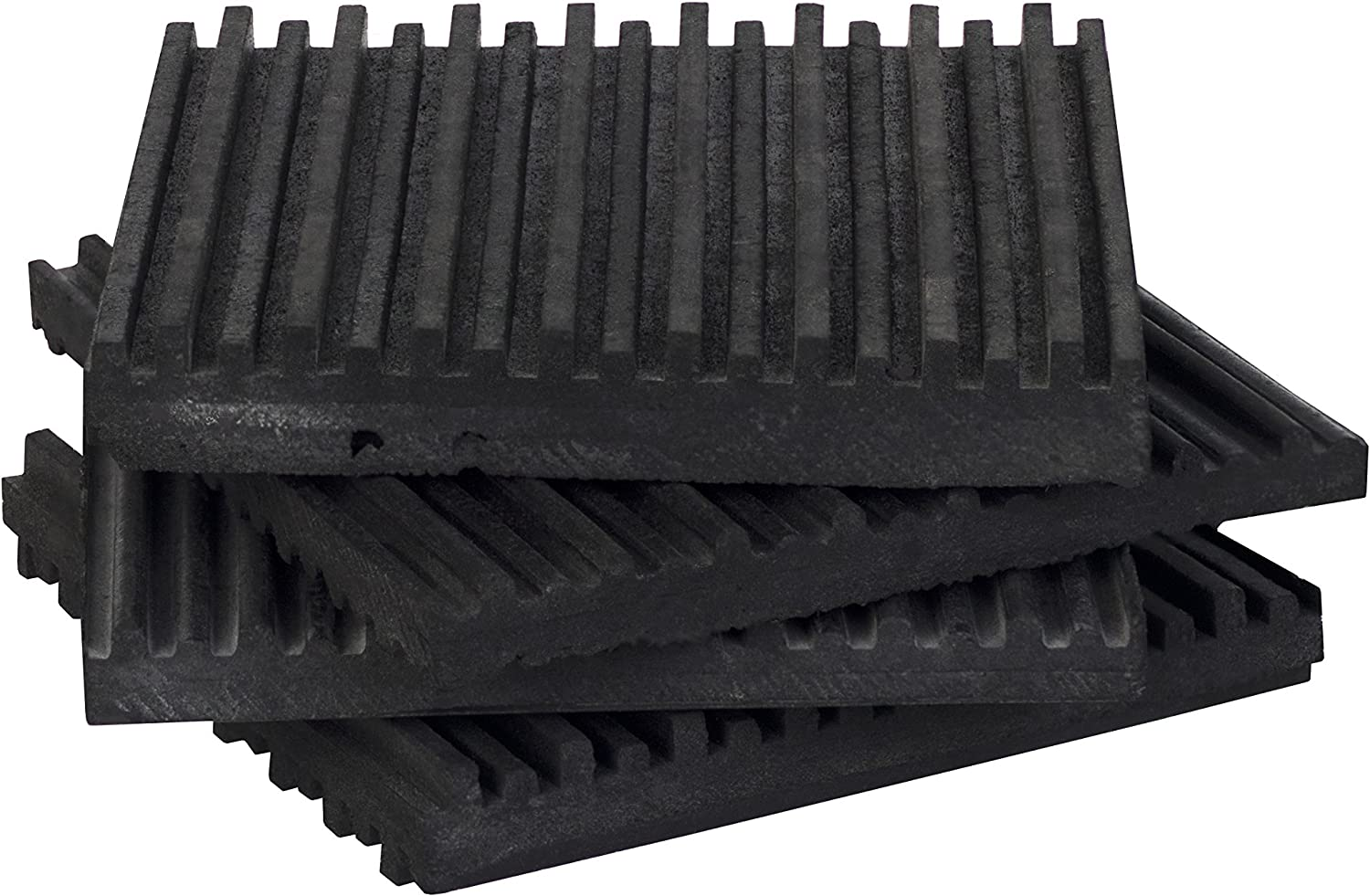 "4-Pack of Rubber Anti Vibration Pads Ribbed on both side 6/"" x 6/"" x 3//8/"""