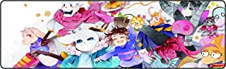 Funky Store Large Undertale Sans Large Extended Gaming Mouse Pad Mat, Stitched Edges, Ultra Thick 3 mm, Wide & Long Mousepad 31.5
