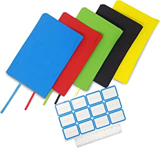 ColorCover 5 Pack Book Covers Fits Up To 9