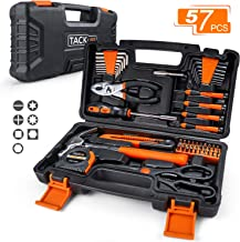 TACKLIFE 57-Piece Household Tool Kit - General Home Tool Kit with Storage Case-HHK3A