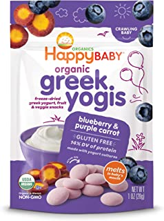 Happy Baby Organic Greek Yogurt Yogi, Blueberry and Purple Carrot, 28g