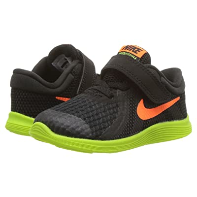 Nike Kids Revolution 4 Fade (Infant/Toddler) (Black/Total Orange/Volt/Black) Boys Shoes