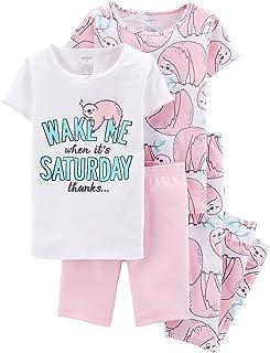 Carters Girls 4-Piece Snug Fit Cotton Pajamas