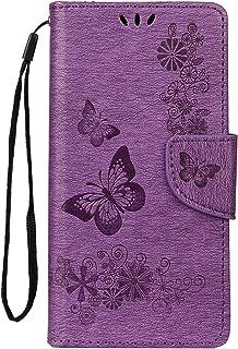LEMORRY Cover per Samsung Galaxy A20e Custodia Pelle Cuoio Flip Portafoglio Borsa Sottile Protettivo Magnetico Chiusura Mo...