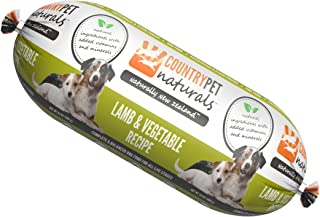 CountryPet Naturals Pasteurized Frozen Dog Food, 1.5 lbs, Variety of Flavors, 16 Rolls (24 lbs Total), Made in New Zealand