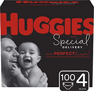 Sponsored Ad - Huggies Special Delivery Hypoallergenic Baby Diapers, Size 4, 100 Ct, One Month Supply