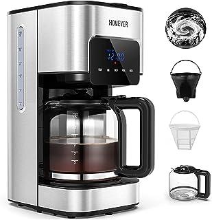 Machine à Café Filtre, HOMEVER 1,5L Cafetiere Filtre, 12 Tasses, Cafetier Programmable avec Minuterie, Affichage LCD, Filt...