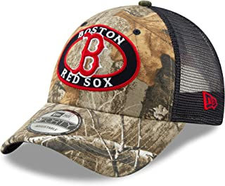 5a41bd4ac4dce9 New Era Boston Red Sox Realtree Camo Patched Trucker Mesh 9Forty Snap Back  hat