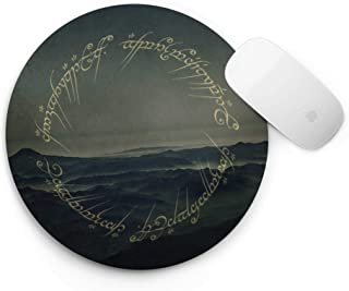 WolfCases Lord of the Rings Print Mouse Pad Computer MousePad Office Decor Handmade Desktop Pad Customized Mousepad Desk Appliance Work Zone Mouse Mat AW3012