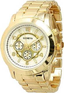 Geneva Metal Bracelet Watch Unisex Boyfriend Dial