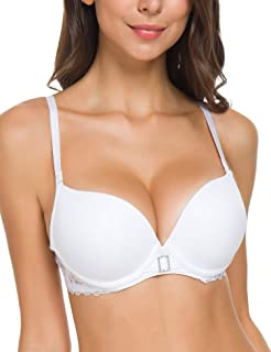 Wingslove Women's Push up Bra Padding Underwire Plunge Smooth Cups Comfort Cleavage T-Shirt Bra