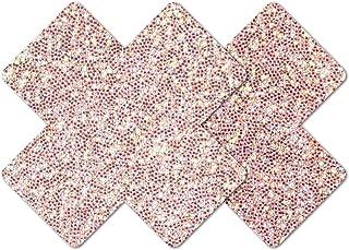 Nippies Style Rose Sparkle Cross Waterproof Self Adhesive Nipple Cover Pasties