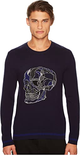The Kooples - Long Sleeved Pullover with Skull Intarsia
