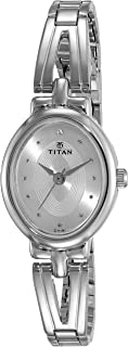 تيتان ساعة رسمية نساء انالوج بعقارب ستانلس ستيل - 2594SM01