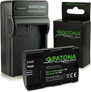 PATONA 3en1 Cargador + Premium Batería LP-E6N compatible con Canon EOS 5D Mark II Mark III 60D 6D 70D 7D 80D R 5D XC10