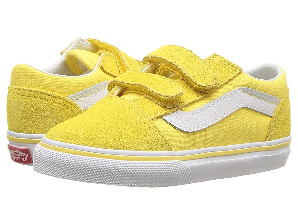 Vans Kids Old Skool V (Toddler) (Aspend Gold/True White) Girls Shoes