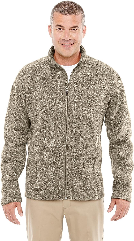 D and Jones Men's Bristol Full-Zip Sweater Fleece Jacket, KHAKI HEATHER, 4X-Large