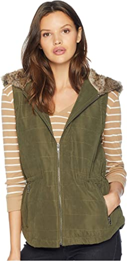 Hey-Ya Microfiber Vest with Fur Lined Hood