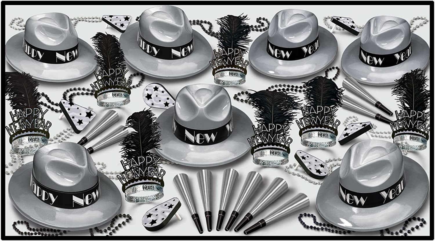Beistle Silver Swing Party Favors, Assortment For 50