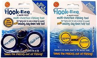 HOOK-EZE Knot Tying Tool Cover Hooks on 4 Fishing Poles |...