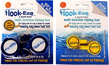 HOOK-EZE Knot Tying Tool Cover Hooks on 4 Fishing Poles |...