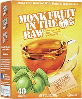 Sugar In The Raw, Monk Fruit In The Raw, 40 Count