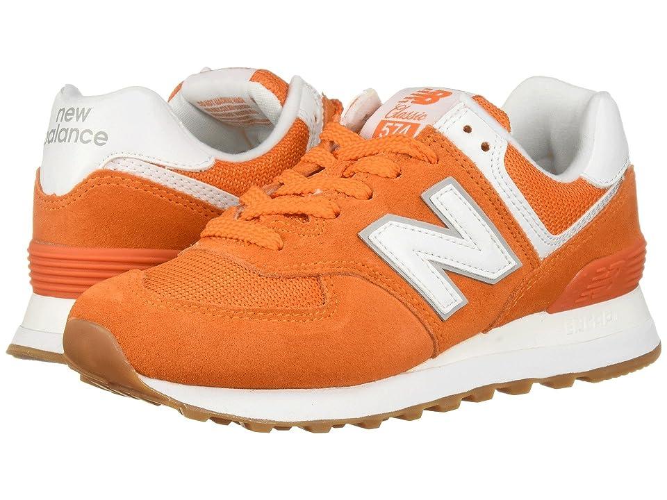 New Balance Classics WL574 (Varsity Orange) Women's Classic Shoes