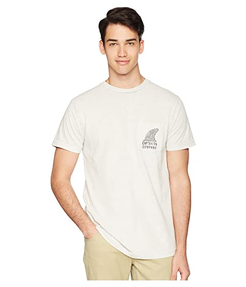 CAPTAIN FIN Bigfoot Premium Pocket Tee, White Mineral