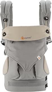 (跨境自营)(包税) ERGObaby 四式360婴儿背带-灰色BC360GRYTAU1NL(适用年龄:4个月-3岁)