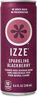 IZZE Fortified Sparkling Juice, Blackberry, 8.4-Ounce Cans (Pack of 24) by Izze Soda