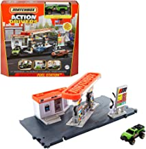 Matchbox Action Drivers Matchbox Fuel Station Playset for Kids 3 Years Old & Up, with 1 1:64 Scale Vehicle, Finger-Play Ga...