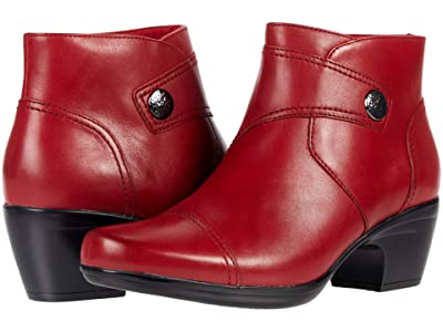 Clarks Emily Calle (Red Leather) Women