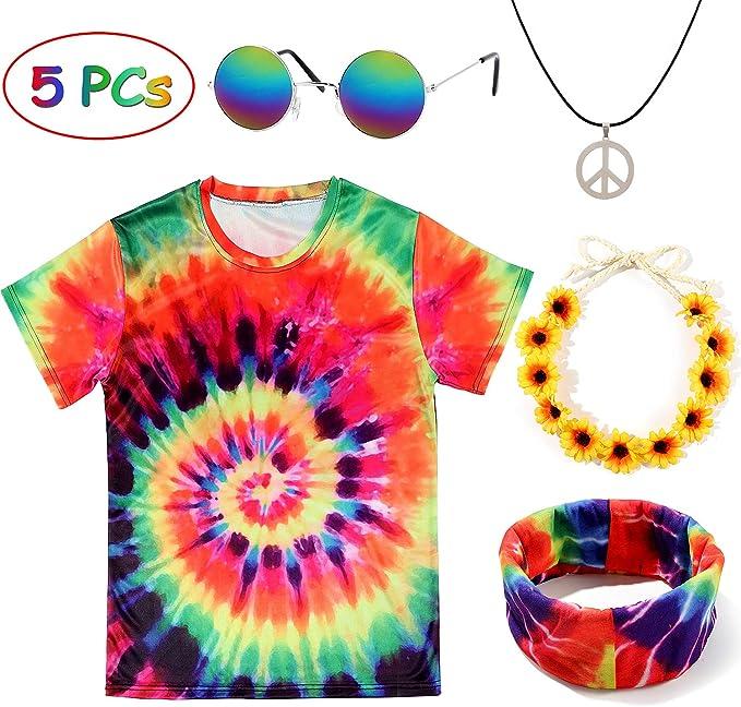241 opinioni per Tacobear 5Pezzi Hippie Accessori Hippie Occhiali Hippie Collana Hippie T Shirt