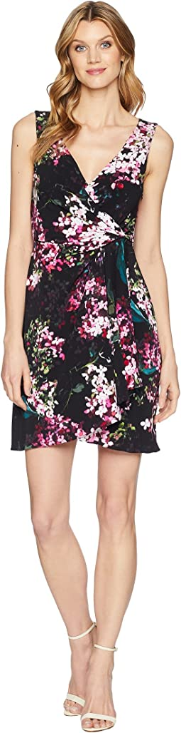 Adrianna Papell Printed Jersey Fit and Flare Dress