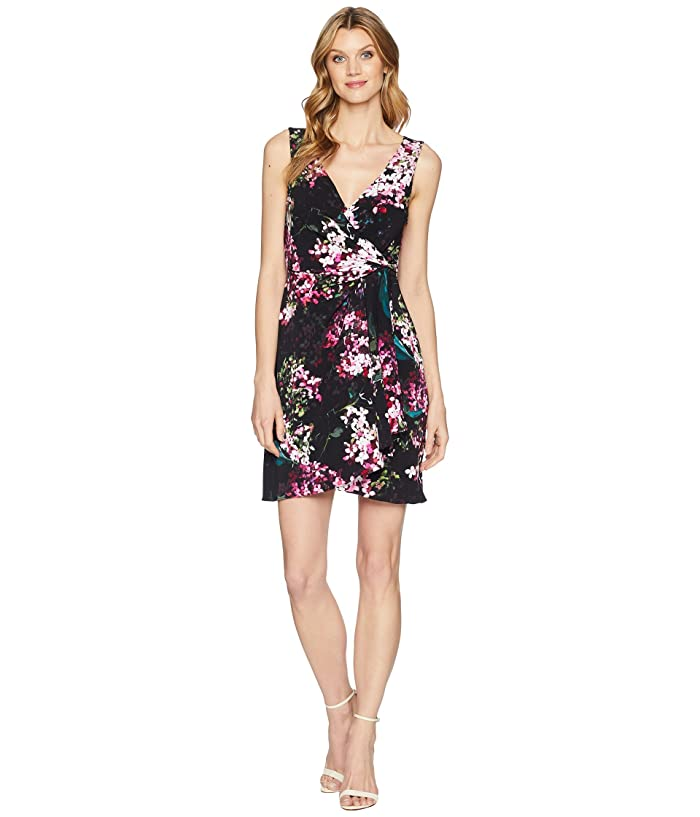 Printed Jersey Fit And Flare Dress by Adrianna Papell