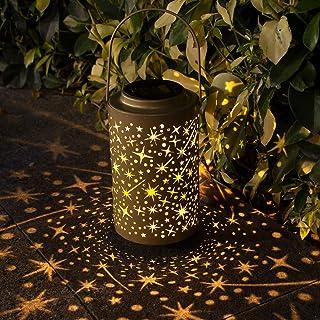 Btfarm Farol Estrellas Solar Exterior Jardín, Linterna Solar Exterior Lámpara de Jardín Impermeable IP65 Farol Solar para Exteriores de Decoración Luces Decorativas para Jardin Terraza Patio Navidad: Amazon.es: Iluminación