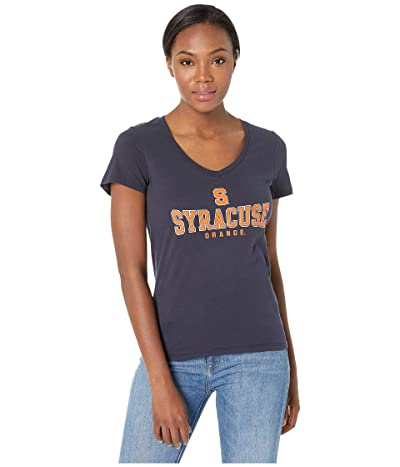 Champion College Syracuse Orange University V-Neck Tee (Navy 2) Women