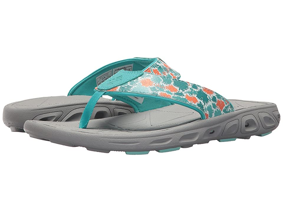 Columbia Kids Techsun Flip (Little Kid/Big Kid) (Gulf Stream/Bright Peach) Girls Shoes