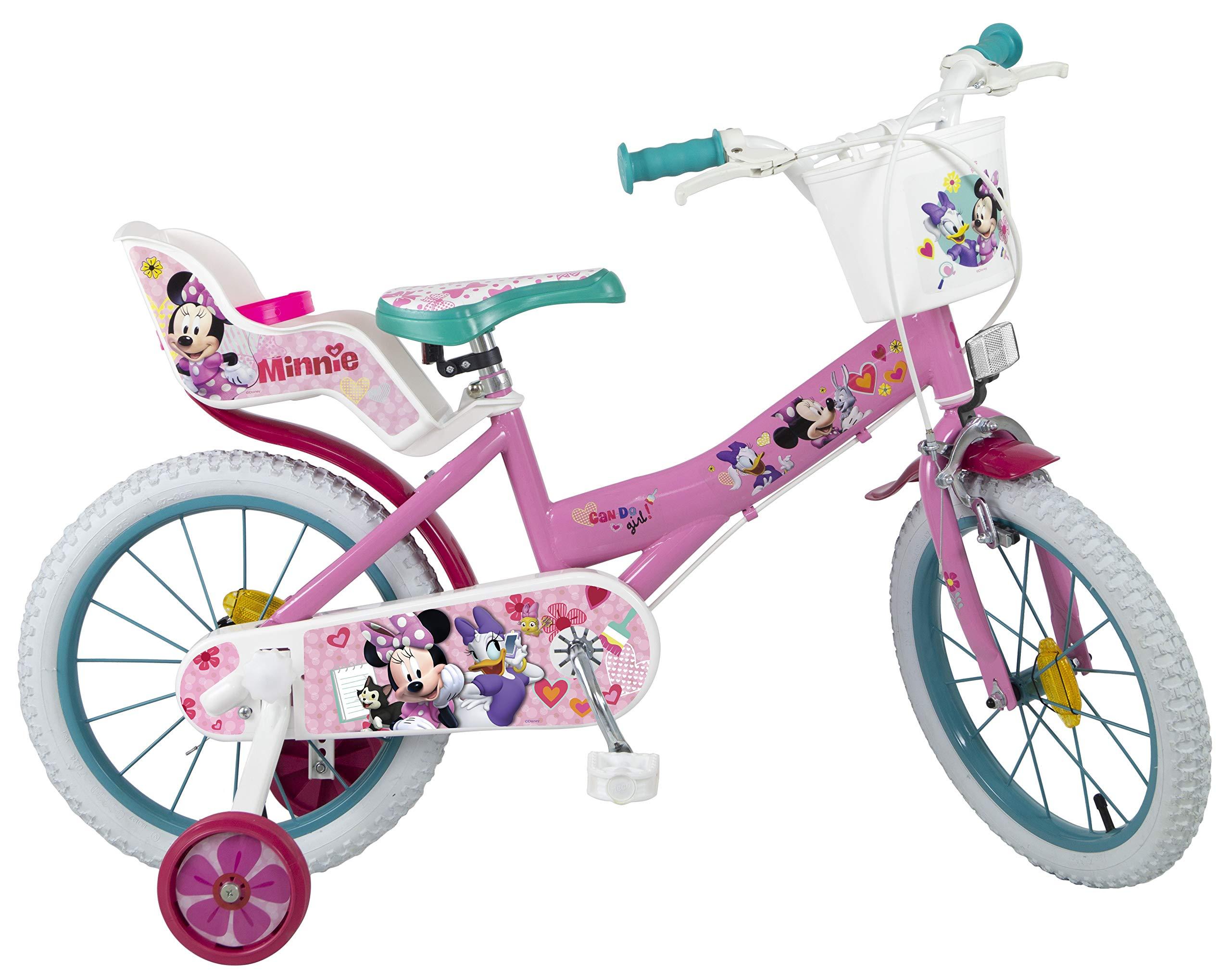 TOIMSA Niños Minnie – Bicicleta Infantil, Color Rosa, 16 Pulgadas: Amazon.es: Deportes y aire libre