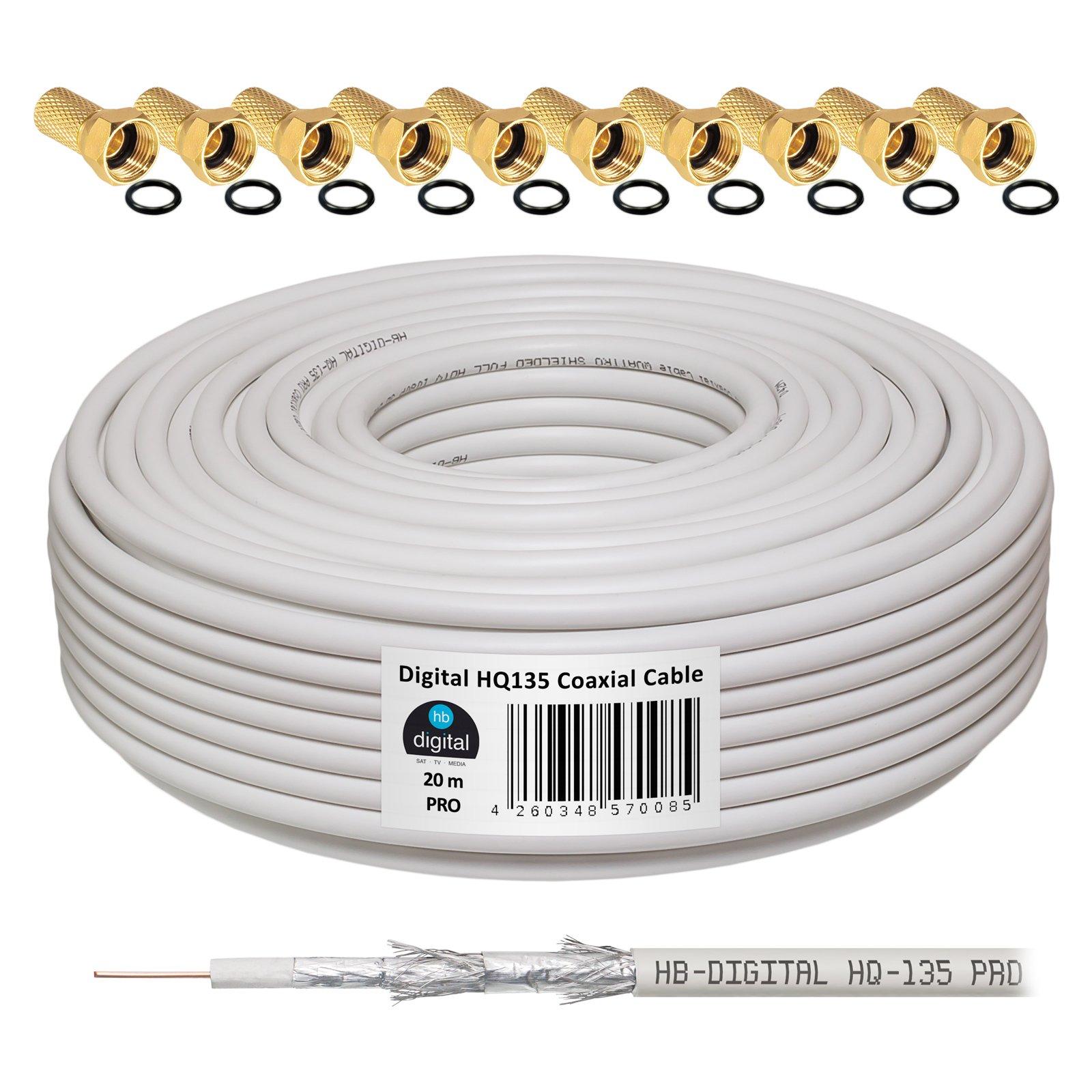HB-Digital - Cable coaxial para DVB-S, S2 DVB-C y DVB-T(130 dB, HQ ...